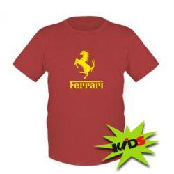 Детская футболка логотип Ferrari
