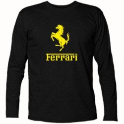 Футболка с длинным рукавом логотип Ferrari