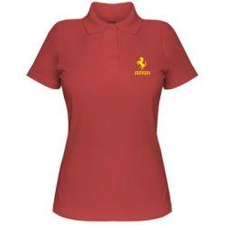Женская футболка поло логотип Ferrari