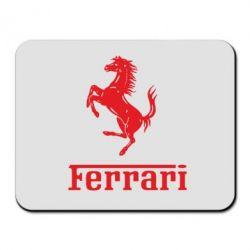 Коврик для мыши логотип Ferrari