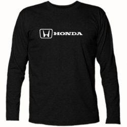 Футболка с длинным рукавом Логотип Honda - PrintSalon