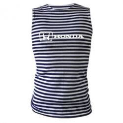 Майка-тельняшка Логотип Honda - PrintSalon