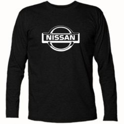 Футболка с длинным рукавом логотип Nissan - PrintSalon