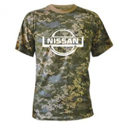 Камуфляжная футболка логотип Nissan - PrintSalon