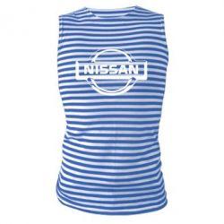 Майка-тельняшка логотип Nissan - PrintSalon