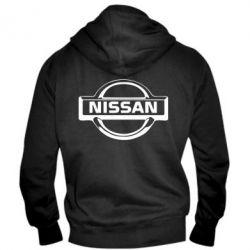 Мужская толстовка на молнии логотип Nissan - PrintSalon
