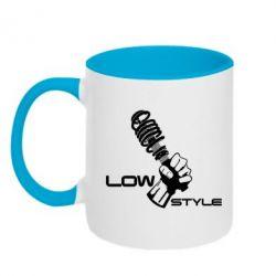 Кружка двухцветная Low Style