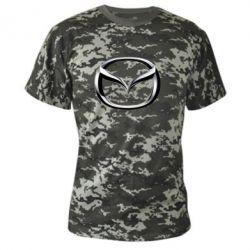 Камуфляжная футболка Mazda 3D Logo