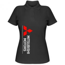 Женская футболка поло Mitsubishi Motors лого