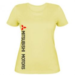 Женская футболка Mitsubishi vert