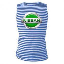Майка-тельняшка Nissan Green