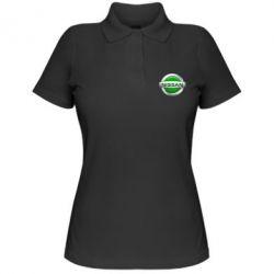 Женская футболка поло Nissan Green