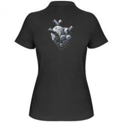 Женская футболка поло Сердце моторчик