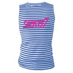 Майка-тельняшка STI Logo
