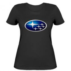 Женская футболка Subaru 3D Logo