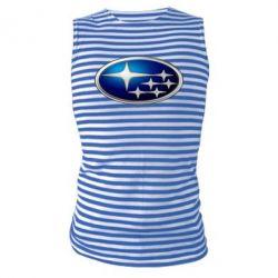 Майка-тельняшка Subaru 3D Logo
