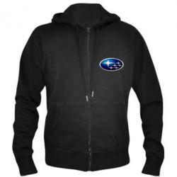 Мужская толстовка на молнии Subaru 3D Logo