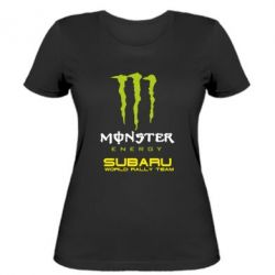 Женская футболка Subaru Monster Energy
