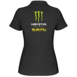 Женская футболка поло Subaru Monster Energy