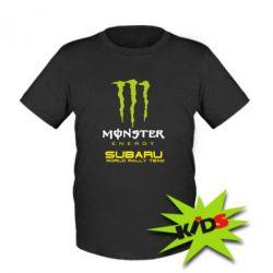 Детская футболка Subaru Monster Energy