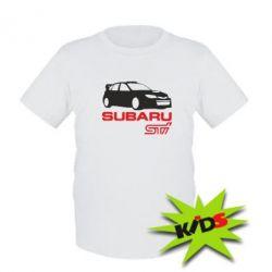 Детская футболка Subaru STI