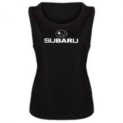 Женская майка Subaru - PrintSalon