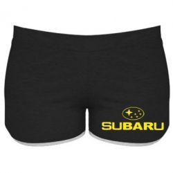 Женские шорты Subaru - PrintSalon