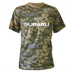 Камуфляжная футболка Subaru - PrintSalon