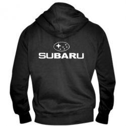 Мужская толстовка на молнии Subaru - PrintSalon