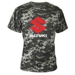 Камуфляжная футболка Suzuki - PrintSalon