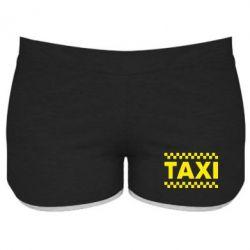 Женские шорты TAXI - PrintSalon