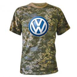 Камуфляжная футболка Volkswagen 3D Logo