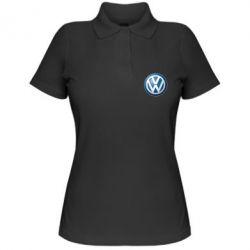 Женская футболка поло Volkswagen 3D Logo