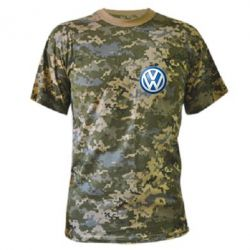 Камуфляжная футболка Volkswagen Small Logo