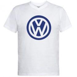 Мужская футболка  с V-образным вырезом Volkswagen - PrintSalon
