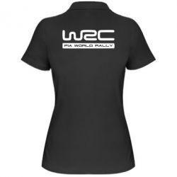 Женская футболка поло WRC - PrintSalon