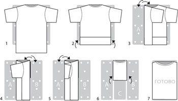 ed16c1723f6f932 Как правильно сложить футболку чтоб не помялась. Аккуратно развешенная ...