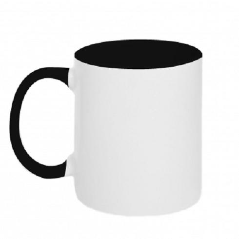 Чашка двухцветная 320ml Скрипичный ключ