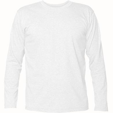 Цвет Белый, Футболки с длинным рукавом - PrintSalon