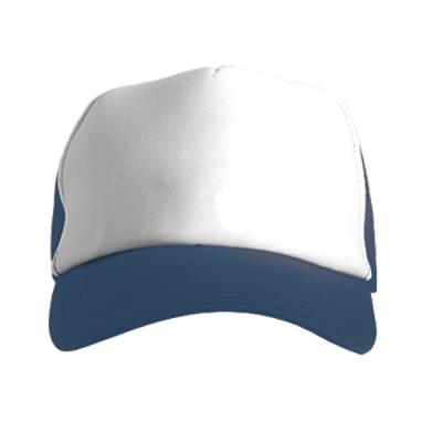 Колір Темно-синій+білий, Кепки-тракери - PrintSalon