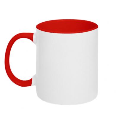 Цвет Красный+белый, Чашки двухцветные 320ml - PrintSalon