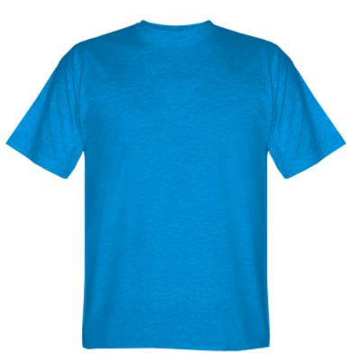 Цвет Голубой, Мужские футболки - PrintSalon