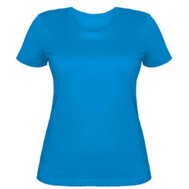 Цвет Голубой, Женские футболки - PrintSalon