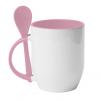 Чашка с ложкой Череп  х_х
