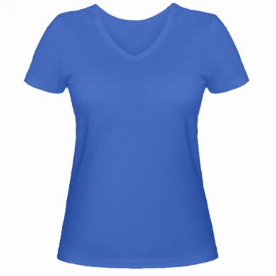 Цвет Синий, Женские футболки с V-образным вырезом - PrintSalon