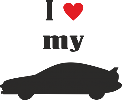 Принт Майка-тельняшка I love my car - PrintSalon