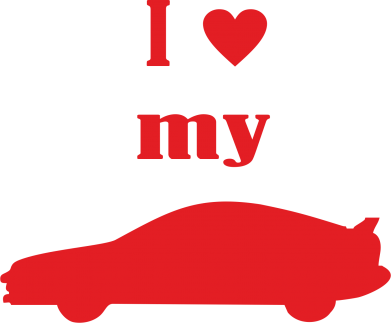 Принт Фартук I love my car - PrintSalon
