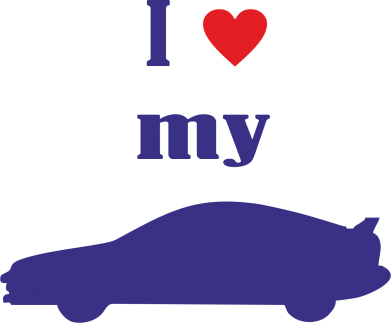 Принт Наклейка I love my car - PrintSalon