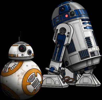 Принт Детский бодик R2D2 & BB-8 - PrintSalon