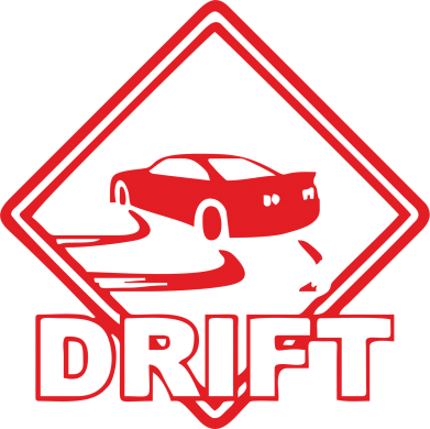 Принт Наклейка Drift - PrintSalon